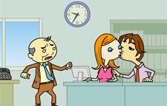 Flash игры для девочек. Офисные поцелуйчики!