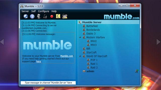 Mumble 1.2.3 русская версия (скачать бесплатно)