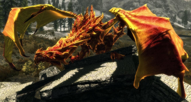 Скачать мод дракона для skyrim