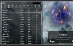 Skyrim мод: новый инвентарь, меню, интерфейс
